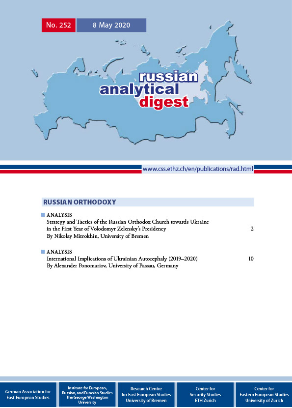cover russian analytical digest 252