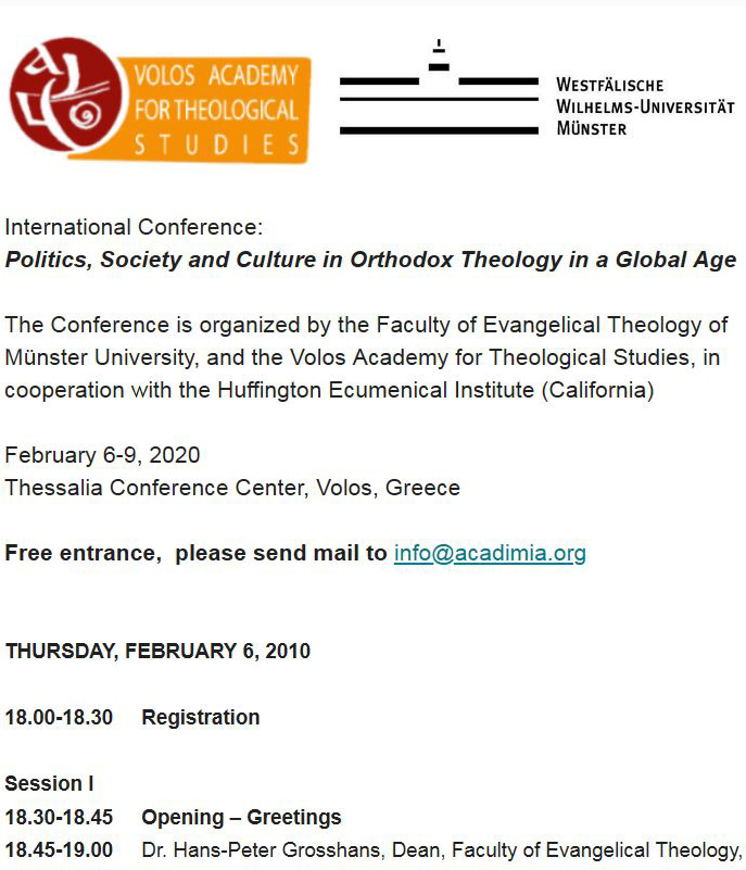 konferenz politics society and culture in orthodox theology
