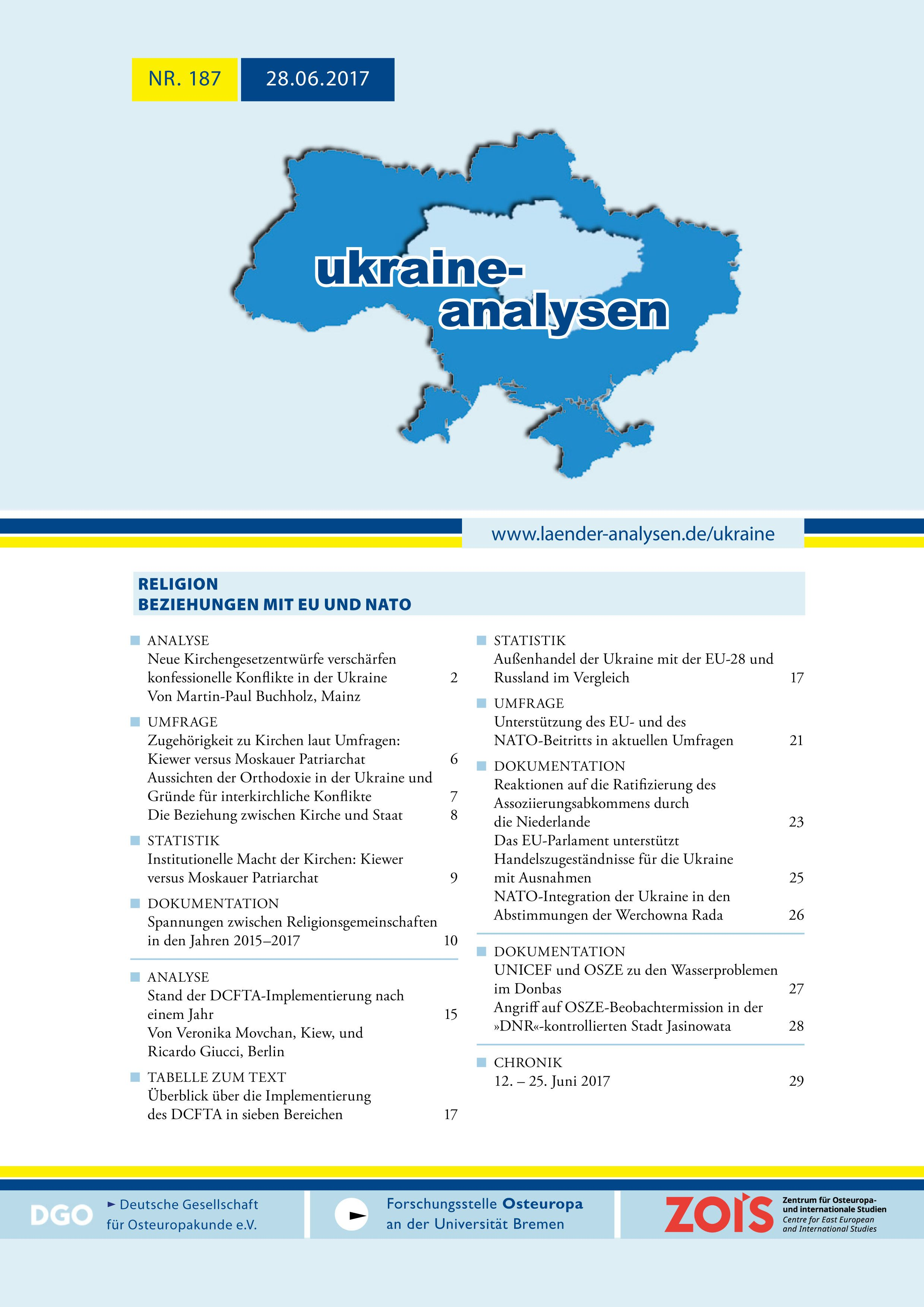 UkraineAnalysen187 cover